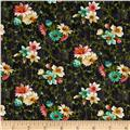 Village Garden Small Floral Dark Gray