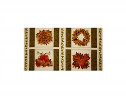 Kaufman Shades of the Season Metallic Panel Ivory