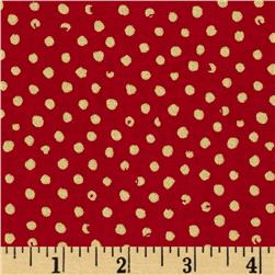 Confetti Sparkle Metallic Dots Red