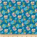 Grace Large Tulips Turquoise/Multi