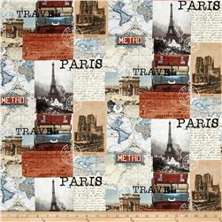 Destination Paris Collage Multi