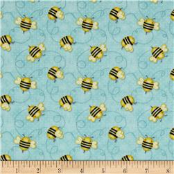 Honey Bee Mine Allover Bees Blue
