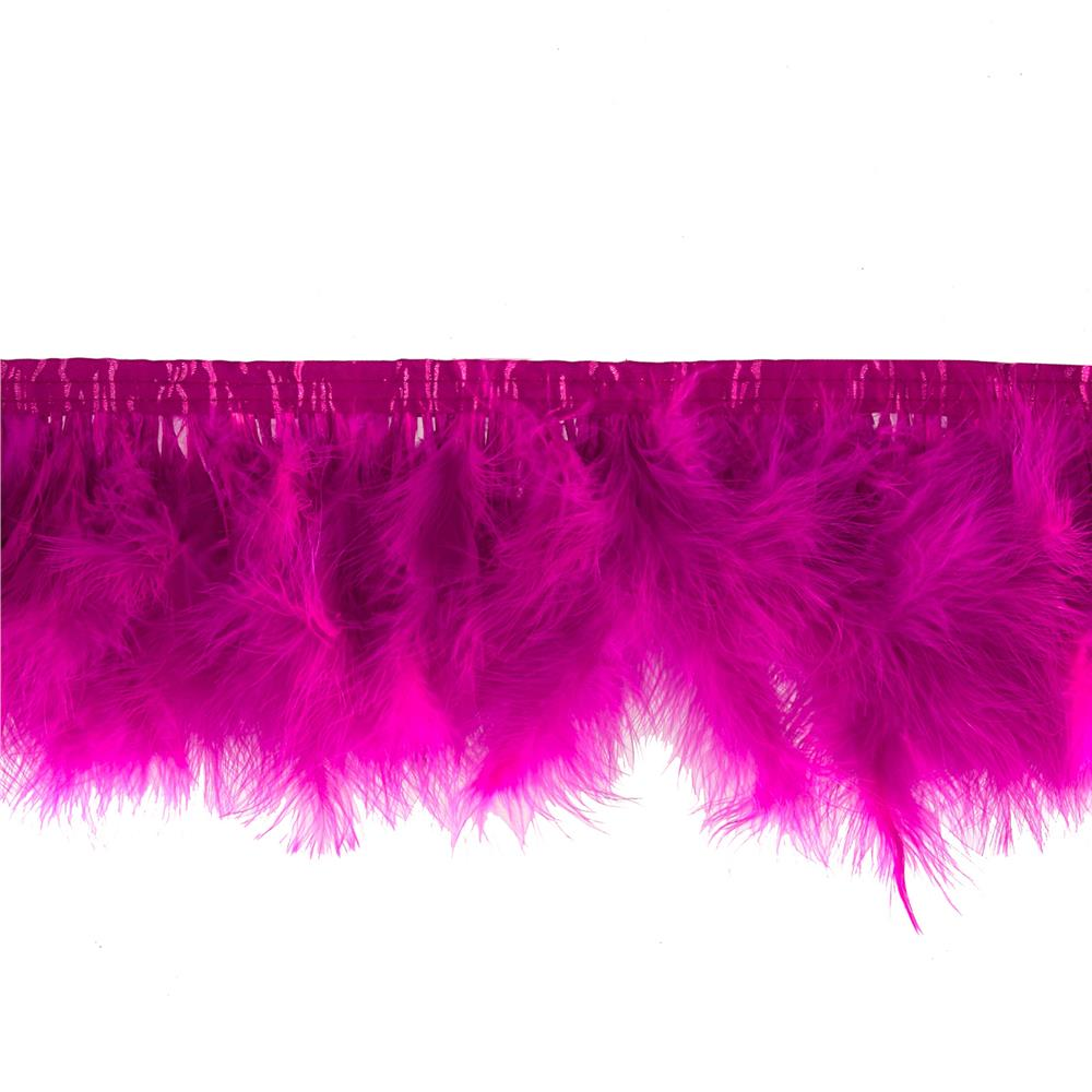 Feather Trim Fuchsia