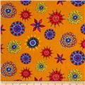 Calypso Frogs Kaleidoscope Orange/Multi