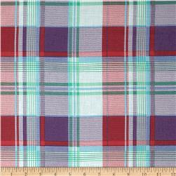 Cotton Plaid Lawn Purple/Red