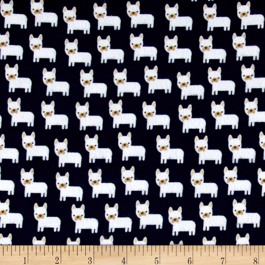 Kaufman Urban Zoologie Minis Flannel Little Dogs Midnight Fabric