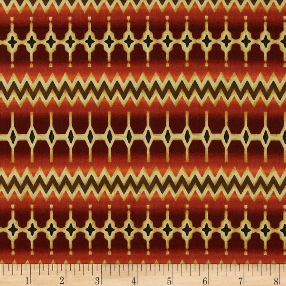 Zoe Verve Stripe/Border Spice Fabric