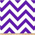 Mi Amor Duchess Satin Chevron Purple/White