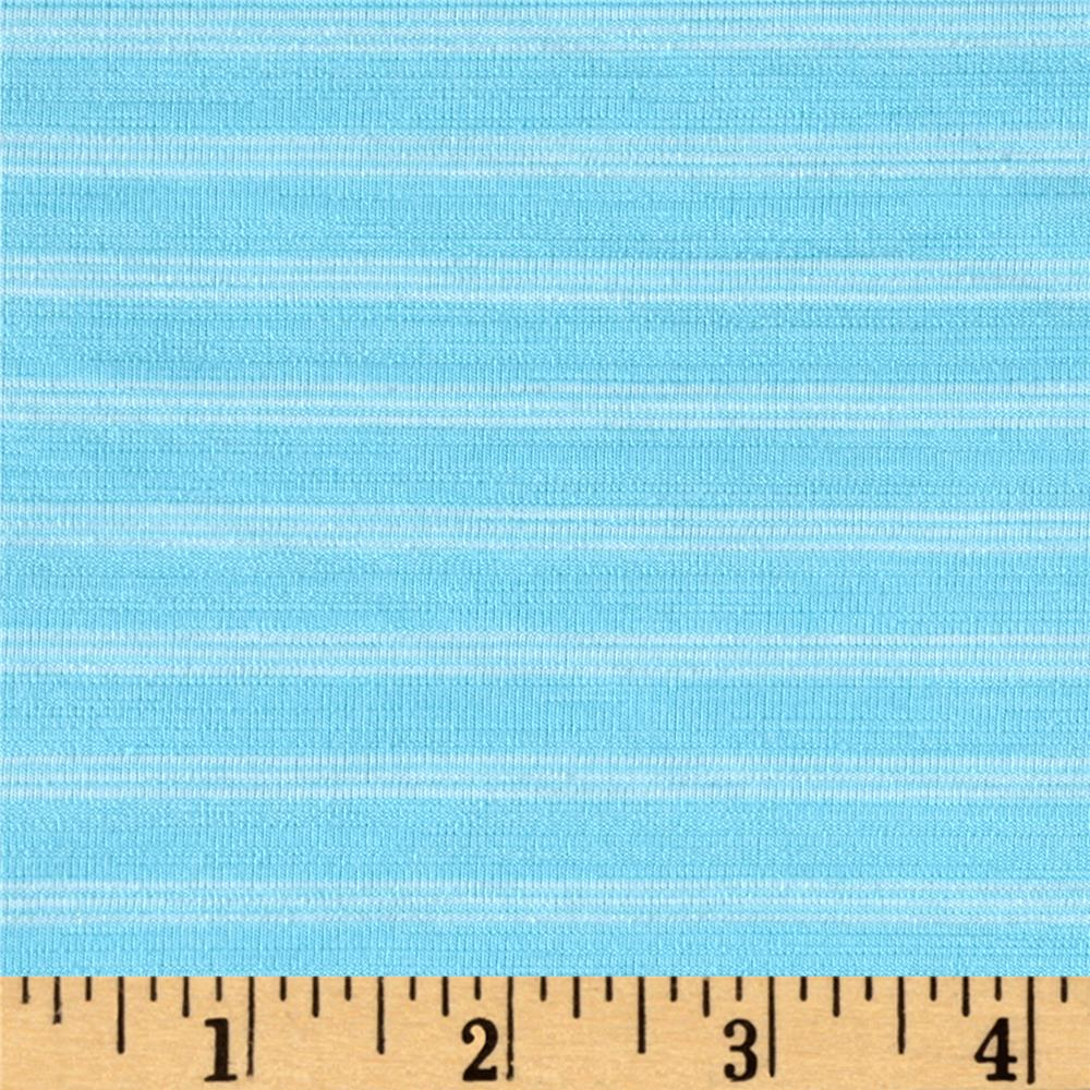 Jersey Knit Mini White Stripe on Sky Blue
