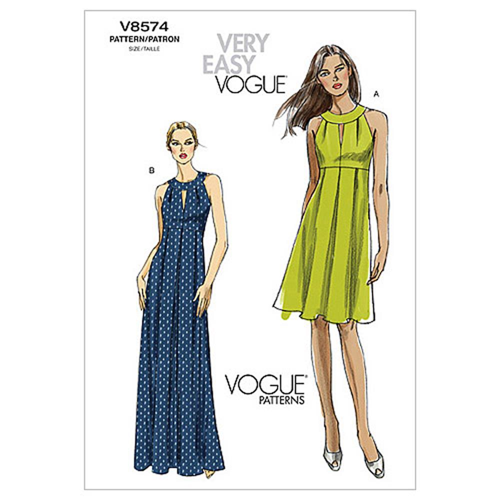 Vogue Misses' Dress Pattern V8574 Size AA0