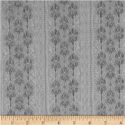 Novelty Lace Stripes Silver