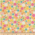 Riley Blake Flannel Snug as a Bug Circles Yellow