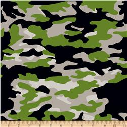 Riley Blake Military Max Camo Gray