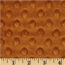 Minky Cuddle Dimple Dot Rust Fabric