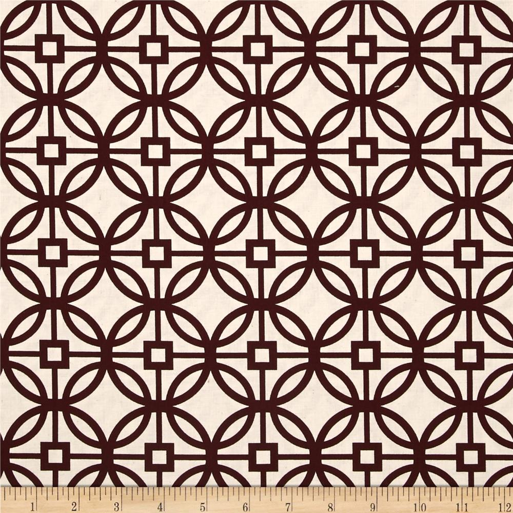 Heirloom Unbleached Trellis Bordeaux