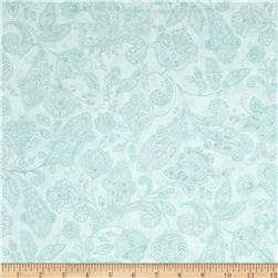 Moda Snowfall Prints Paisley Toile Ice