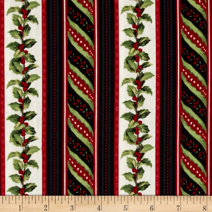 Crimson & Holly Ticking Stripe Ivory/Black