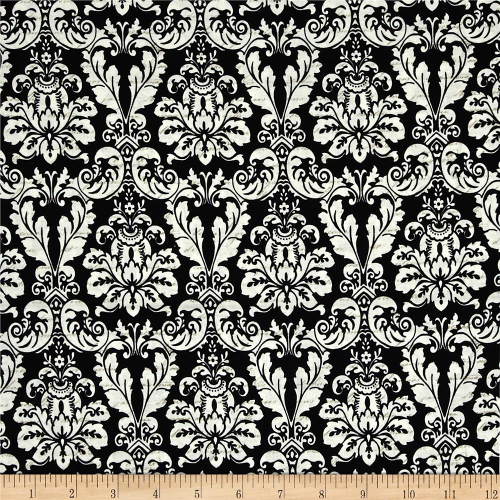 Joyeux Noel Large Damask Black