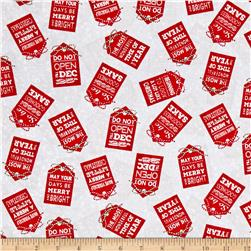Holiday Traditions Tags Gray