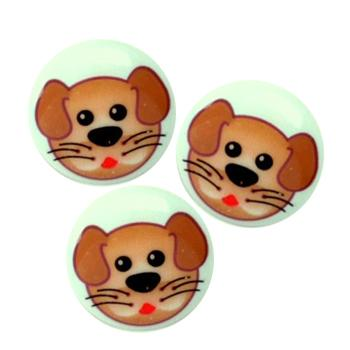 Novelty Button 3/4'' Critter Dog Multi