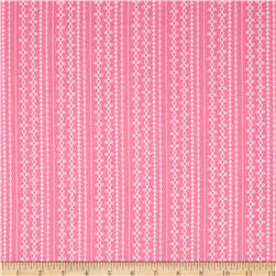 Riley Blake Floriography Stripes Pink