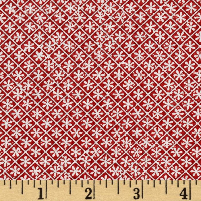 Geometric Flowers Red