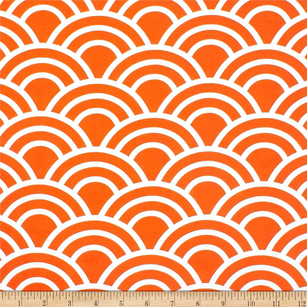 Michael Miller Bekko Home Decor Swell Tangerine