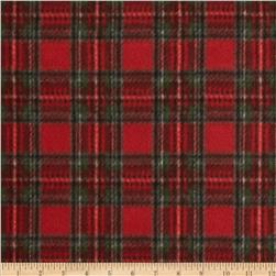 Fleece Prints Plaid Red