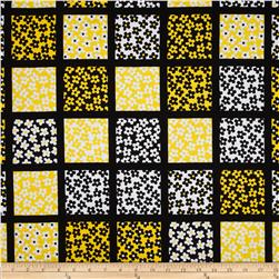 Kanvas What a Whirl II Daisy Square Black/Yellow