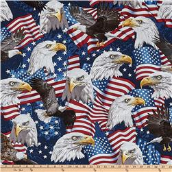 Timeless Treasures American Pride Eagles Eagle