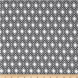 Metro Living Flame Stripe Black Fabric