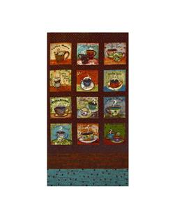 Coffee House Large Panel Brown