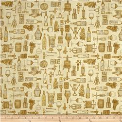 Perfectly Vintage Wine Toile Lt Amber