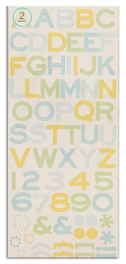 Martha Stewart Crafts Stickers Playful Dots Alphabet