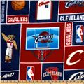 NBA Fleece Cleveland Cavaliers Blocks Red
