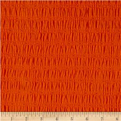Crincle Cotton Spandex Eyelet Knit Orange