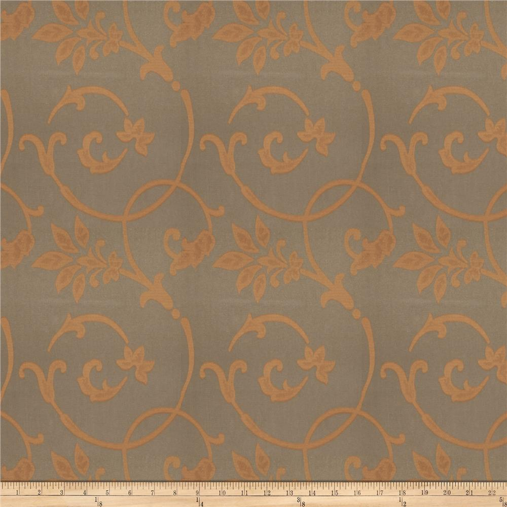 Fabricut Kazia Scroll Ginger Spice