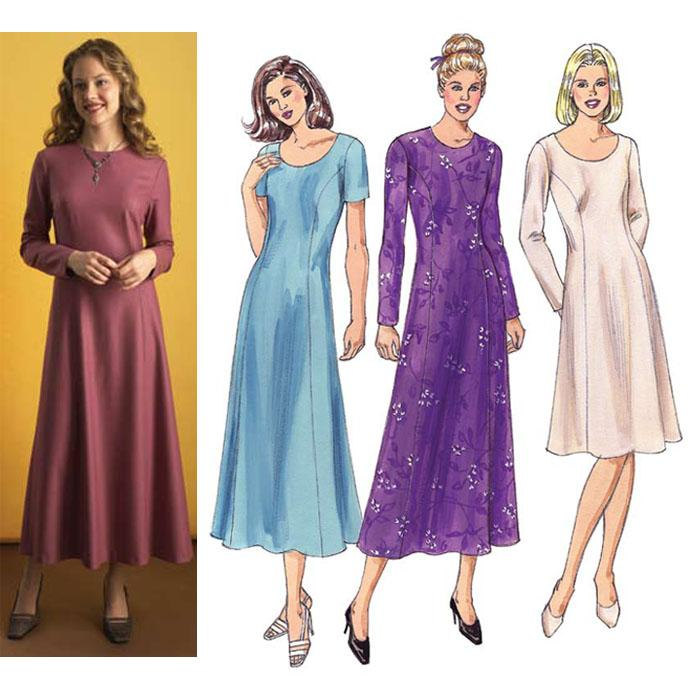 Kwik Sew Fitted Princess-line Dresses Pattern