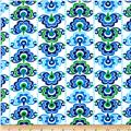 Sundborn Garden Medallion Stripe Blue/Green