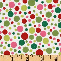 Michael Miller Play Dot Santa Red/Green Fabric