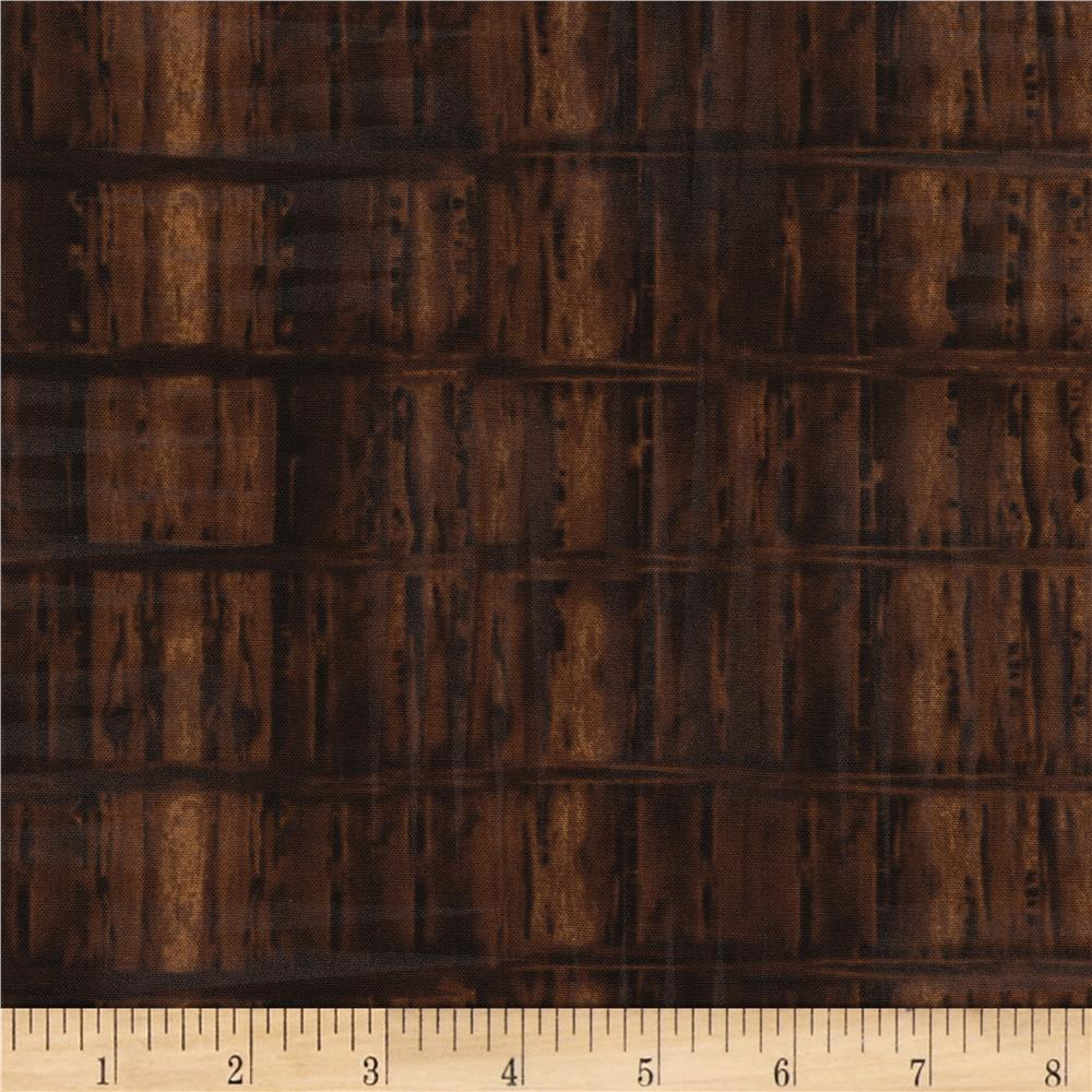 Timeless Treasures Judy Niemeyer's Reclaimed West Weathered Wood Dark Brown