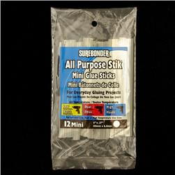 Surebonder ® All Purpose Mini Glue Sticks 12/PKG