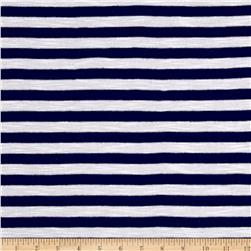 Apparel Jersey Knit Stripes Blue/White