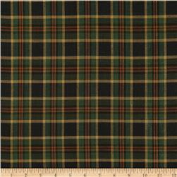 Holiday Blitz Large Plaid Black/Green Fabric