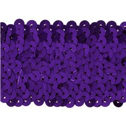 1 3/4'' Metallic Stretch Sequin Trim Purple
