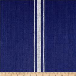 Moda Blue Plate Toweling Middle Stripes Blue/Cream