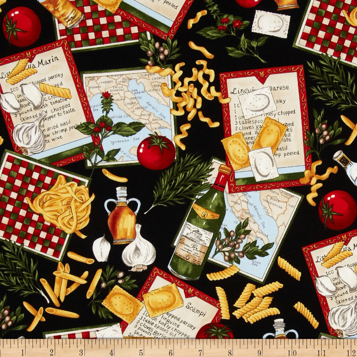 Image of Chef's Choice Chef Collage Fabric