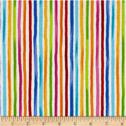 Loralie Designs Happy Stripe White/Multi