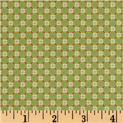 El Camino Real Pattern Wallpaper Diamonds Green/Orange