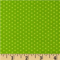 Kaufman Spot On Pindot Lime